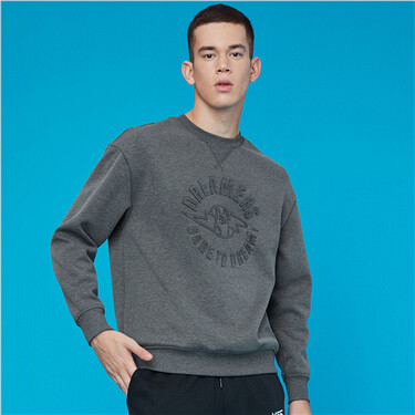 Interlock embossed crewneck sweatshirt