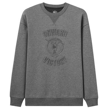 Interlock embossed crewneck sweatshirt