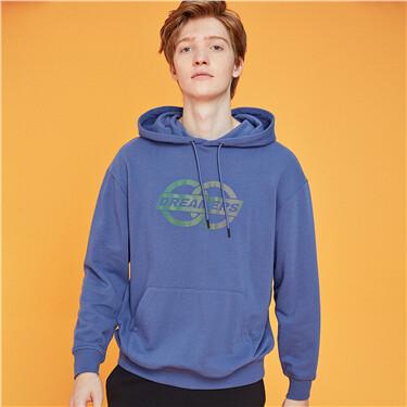 Printed kanga pocket hoodie