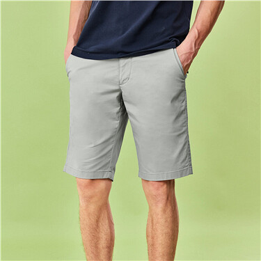 Quick-drying mid-rise plain shorts