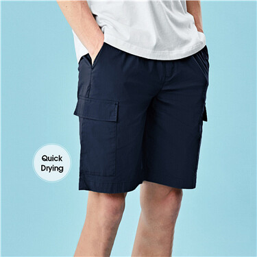 Lightweight quick-drying cargo shorts