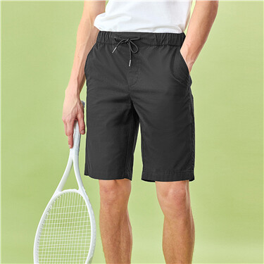 Thin elastic waistband shorts