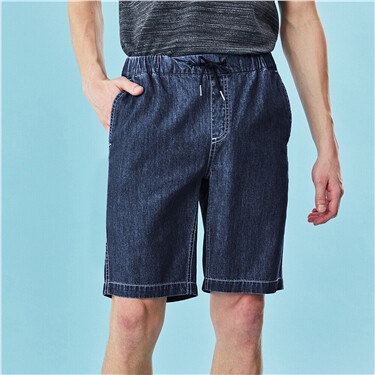 Elastic waistband lightweight shorts