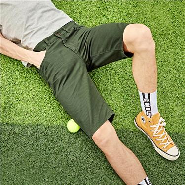 Cotton twill shorts