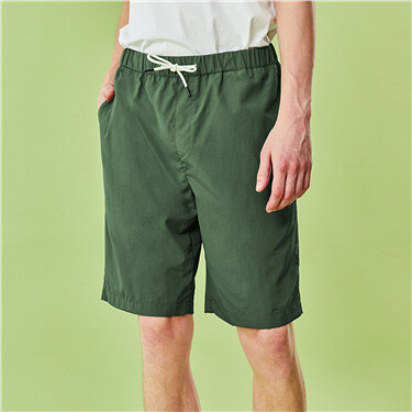 Thin elastic waistband loose shorts