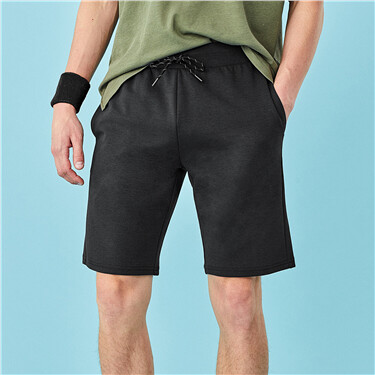Waistband with drawstring shor