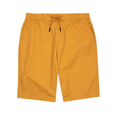 男裝淨色抽繩鬆緊腰短褲