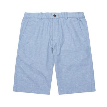 男裝麻棉中腰休閒短褲