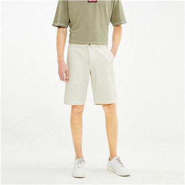 Stretch Cotton Mid Low Waist Color Cow Denim Shorts