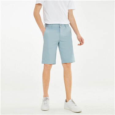 Stretch Cotton Mid Low Waist Color Cow Denim Shorts
