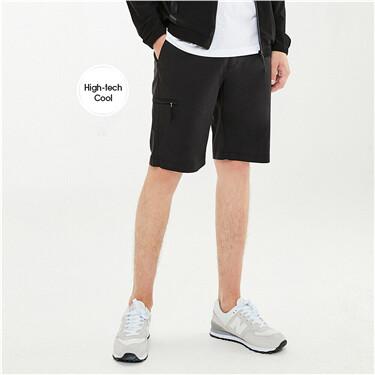 High-tech quick-drying elastic waist shorts