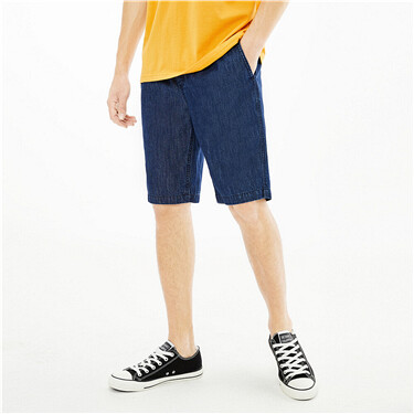 【網上獨家】男裝輕薄抽繩鬆緊腰牛仔短褲