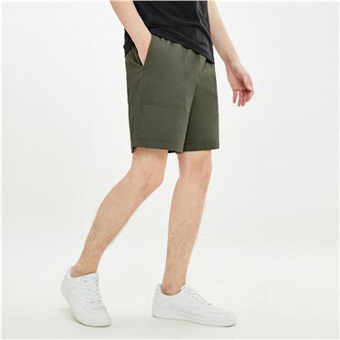 Cargo contrast lightweight shorts