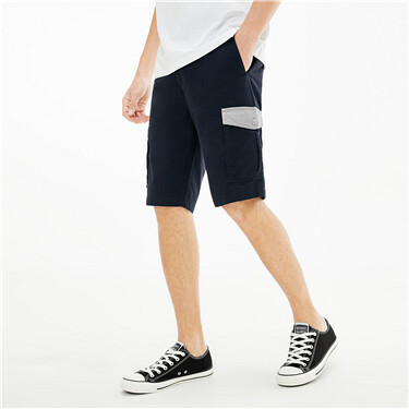 Contrast cargo flap pockets shorts