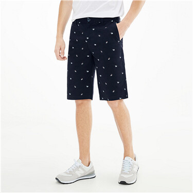 Printed lightweight mid-low rise shorts