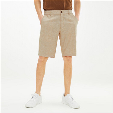 Linen-cotton casual shorts