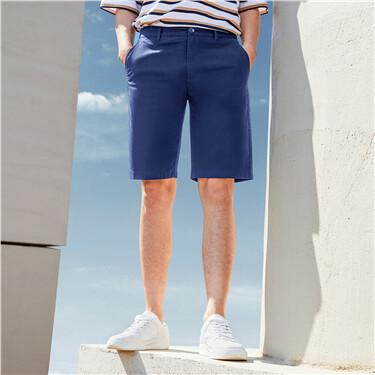 Plain lightweight mid-low rise shorts