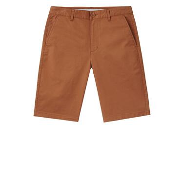 男裝淨色彈性中低腰休閒短褲