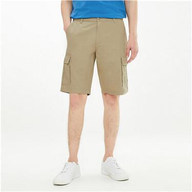 纯棉工装薄款中腰休闲短裤
