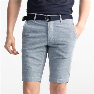 Linen-cotton bermuda (with belt)