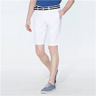 Cotton twill bermuda (with belt)