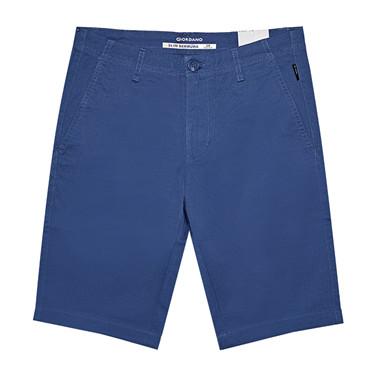 男裝淨色彈性低腰休閒短褲