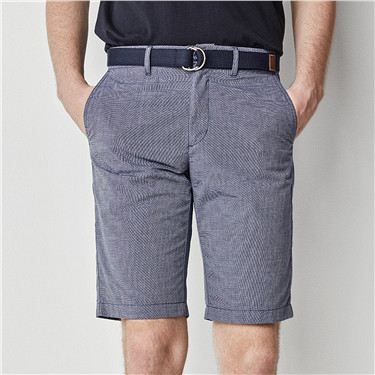 Coolmax solid mid rise shorts(With belt)