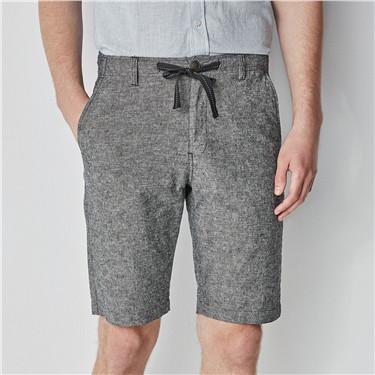 Linen elastic waistband shorts