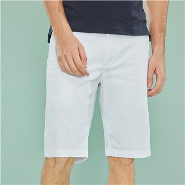 男裝素色百慕達短褲