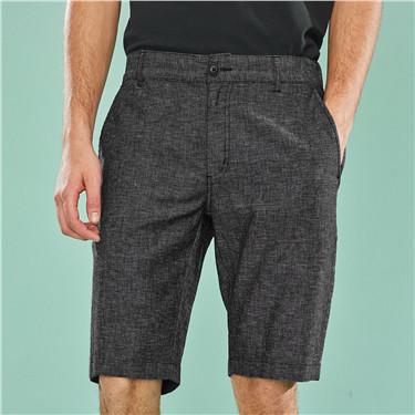 天然麻棉中低腰休閑短褲
