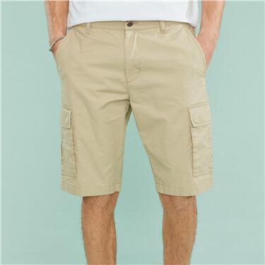 Cotton casual cargo shorts