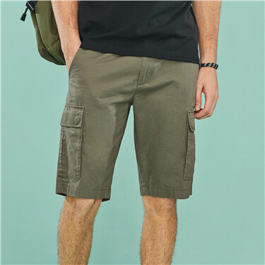 Cotton Casual Cargo Shorts