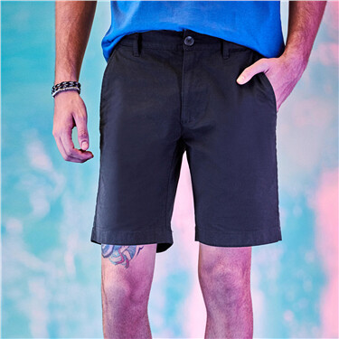 Stretchy mid-low rise slim shorts