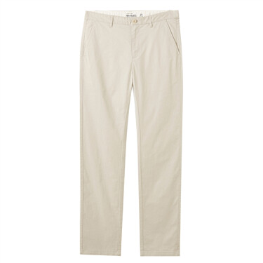Stretchy cotton solid casual pants