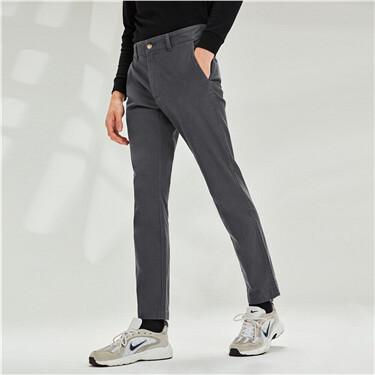 男裝彈性低腰休閒長褲