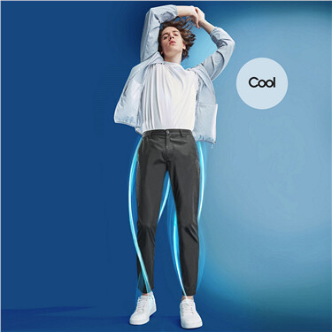 Stretch lightweight slim pants