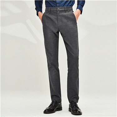 Thick sanded mid-rise pants