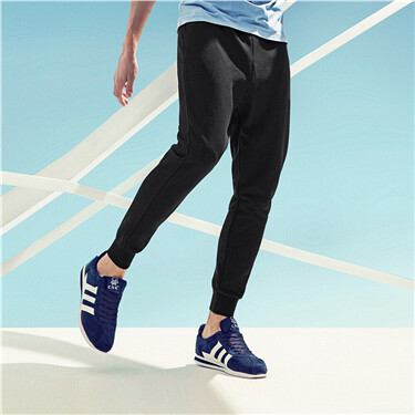 Stretchy elastic waistband thin jogger