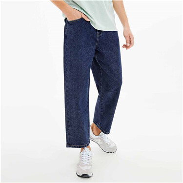 Loose-fit Straight Mid-rise Ankle-length Jeans