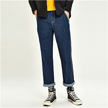 Multi-pocket Straight Jeans