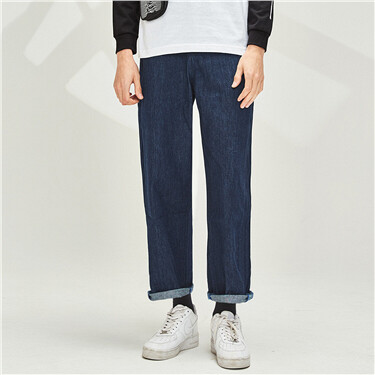 Mid-rise Multi-pocket Jeans