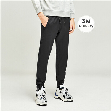 3M quick-dry elastic waistband joggers
