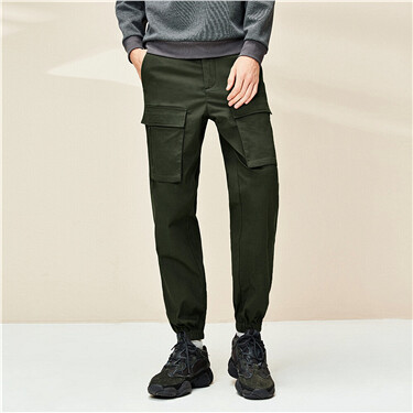 Stretchy multi-pocket pants