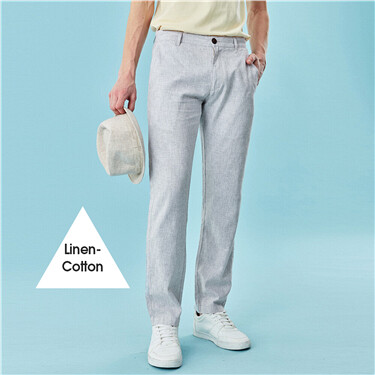 Linen Cotton Solid Pants