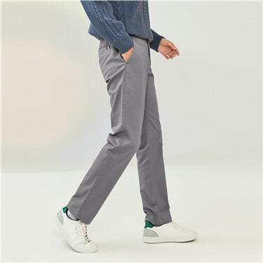 中低腰修身窄管休閒褲