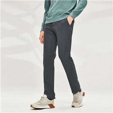 厚实内抓绒纯色休闲长裤
