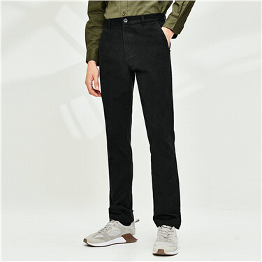 Thick sanded lining casual pants