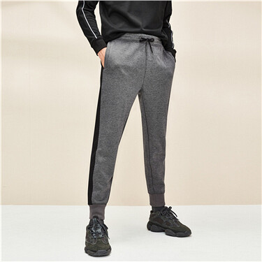 Interlock Fabric Contrast Joggers
