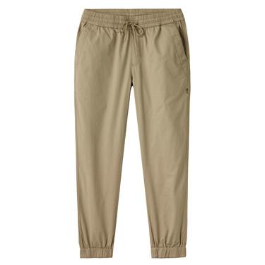男裝純棉修身鬆緊腰束腳褲