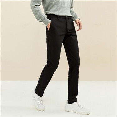 Stretchy slim solid color khakis